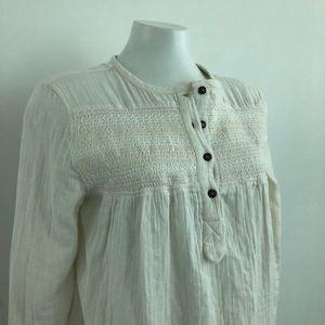 Current/Elliott | 💯% Cotton popover blouse | 0